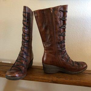 Miz Mooz Otis Tall Leather Boots Size 40